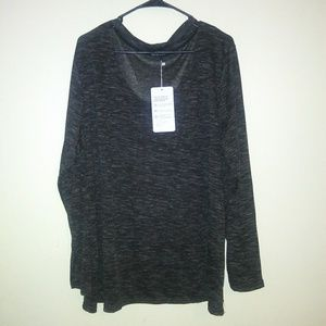 The free yoga Womens top dark gray size 3X